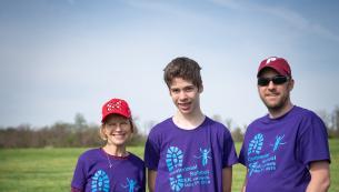 Family at 5K race