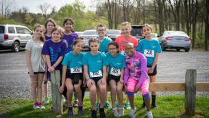 Girls on the run at the 5K race