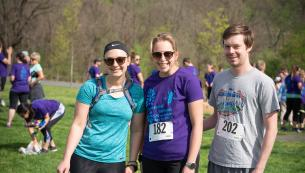 Friends at the 5K race